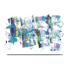 Background Color Circle Pattern Plate Mats by Onesevenart