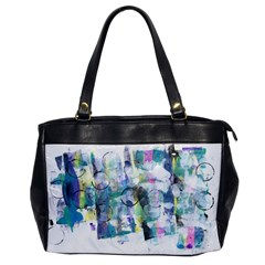 Background Color Circle Pattern Office Handbags by Onesevenart