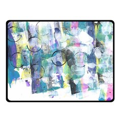 Background Color Circle Pattern Fleece Blanket (small) by Onesevenart