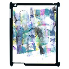 Background Color Circle Pattern Apple Ipad 2 Case (black) by Onesevenart