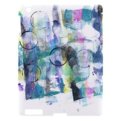Background Color Circle Pattern Apple Ipad 3/4 Hardshell Case by Onesevenart