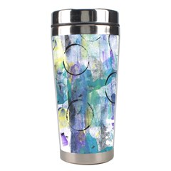 Background Color Circle Pattern Stainless Steel Travel Tumblers by Onesevenart