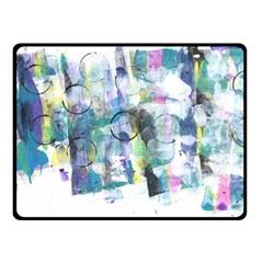 Background Color Circle Pattern Double Sided Fleece Blanket (small)  by Onesevenart