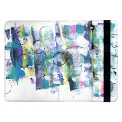Background Color Circle Pattern Samsung Galaxy Tab Pro 12 2  Flip Case by Onesevenart