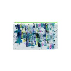 Background Color Circle Pattern Cosmetic Bag (xs) by Onesevenart