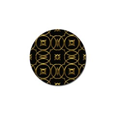 Black And Gold Pattern Elegant Geometric Design Golf Ball Marker (4 Pack) by yoursparklingshop