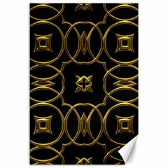 Black And Gold Pattern Elegant Geometric Design Canvas 24  X 36  by yoursparklingshop