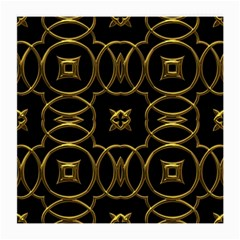 Black And Gold Pattern Elegant Geometric Design Medium Glasses Cloth by yoursparklingshop