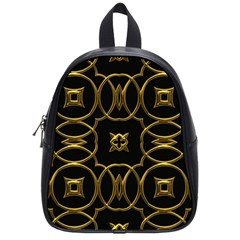 Black And Gold Pattern Elegant Geometric Design School Bags (small)  by yoursparklingshop