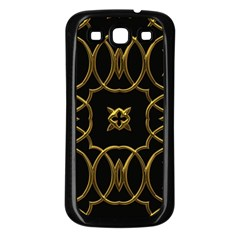 Black And Gold Pattern Elegant Geometric Design Samsung Galaxy S3 Back Case (black) by yoursparklingshop
