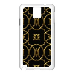 Black And Gold Pattern Elegant Geometric Design Samsung Galaxy Note 3 N9005 Case (white) by yoursparklingshop
