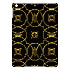 Black And Gold Pattern Elegant Geometric Design Ipad Air Hardshell Cases by yoursparklingshop