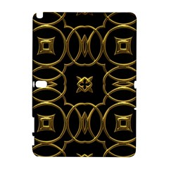 Black And Gold Pattern Elegant Geometric Design Galaxy Note 1 by yoursparklingshop