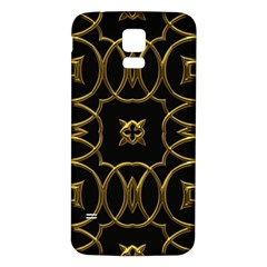 Black And Gold Pattern Elegant Geometric Design Samsung Galaxy S5 Back Case (white) by yoursparklingshop
