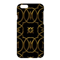 Black And Gold Pattern Elegant Geometric Design Apple Iphone 6 Plus/6s Plus Hardshell Case