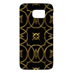 Black And Gold Pattern Elegant Geometric Design Galaxy S6 by yoursparklingshop