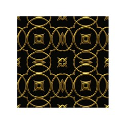 Black And Gold Pattern Elegant Geometric Design Small Satin Scarf (square) by yoursparklingshop