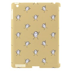 Happy Character Kids Motif Pattern Apple iPad 3/4 Hardshell Case (Compatible with Smart Cover)