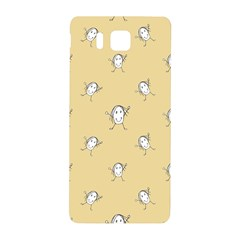 Happy Character Kids Motif Pattern Samsung Galaxy Alpha Hardshell Back Case by dflcprints
