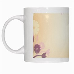 Background Floral Background White Mugs by Onesevenart