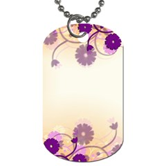 Background Floral Background Dog Tag (one Side) by Onesevenart