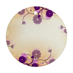 Background Floral Background Round Ornament (two Sides) by Onesevenart