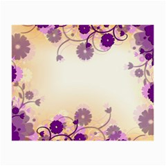 Background Floral Background Small Glasses Cloth (2 Side) by Onesevenart