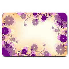 Background Floral Background Large Doormat  by Onesevenart