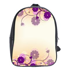 Background Floral Background School Bags(large)  by Onesevenart
