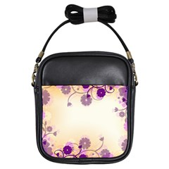 Background Floral Background Girls Sling Bags by Onesevenart