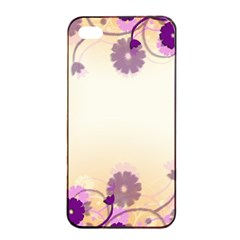 Background Floral Background Apple Iphone 4/4s Seamless Case (black) by Onesevenart