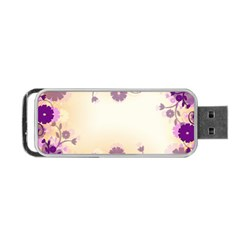 Background Floral Background Portable Usb Flash (two Sides) by Onesevenart