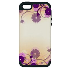Background Floral Background Apple Iphone 5 Hardshell Case (pc+silicone) by Onesevenart