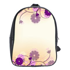 Background Floral Background School Bags (xl)  by Onesevenart