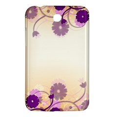 Background Floral Background Samsung Galaxy Tab 3 (7 ) P3200 Hardshell Case  by Onesevenart