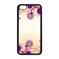 Background Floral Background Apple Iphone 5c Seamless Case (black) by Onesevenart