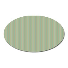 Background Pattern Green Oval Magnet by Onesevenart
