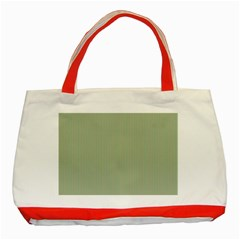 Background Pattern Green Classic Tote Bag (red) by Onesevenart