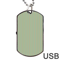 Background Pattern Green Dog Tag Usb Flash (one Side) by Onesevenart