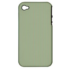 Background Pattern Green Apple Iphone 4/4s Hardshell Case (pc+silicone) by Onesevenart