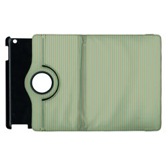 Background Pattern Green Apple Ipad 3/4 Flip 360 Case by Onesevenart