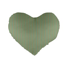 Background Pattern Green Standard 16  Premium Flano Heart Shape Cushions by Onesevenart