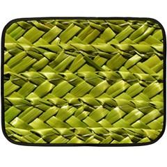 Basket Woven Braid Wicker Fleece Blanket (mini) by Onesevenart