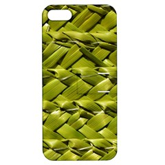 Basket Woven Braid Wicker Apple Iphone 5 Hardshell Case With Stand by Onesevenart
