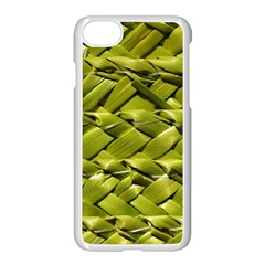 Basket Woven Braid Wicker Apple Iphone 7 Seamless Case (white) by Onesevenart