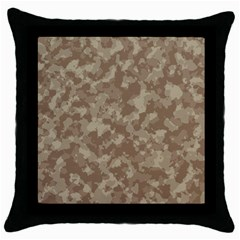Camouflage Tarn Texture Pattern Throw Pillow Case (black) by Onesevenart