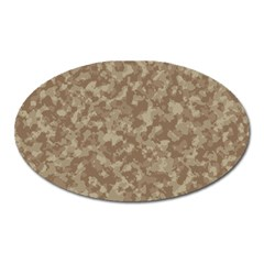 Camouflage Tarn Texture Pattern Oval Magnet by Onesevenart