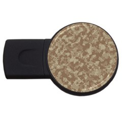 Camouflage Tarn Texture Pattern Usb Flash Drive Round (4 Gb) by Onesevenart