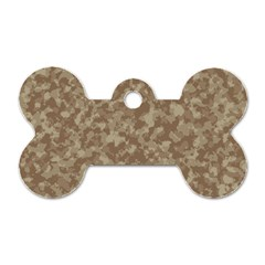 Camouflage Tarn Texture Pattern Dog Tag Bone (one Side) by Onesevenart
