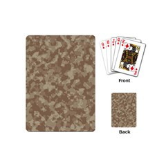 Camouflage Tarn Texture Pattern Playing Cards (mini)  by Onesevenart